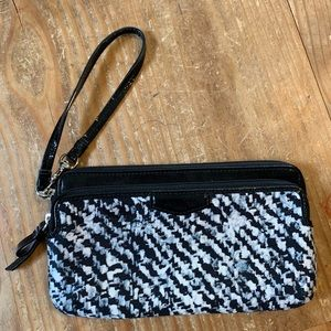 Coach / Donegal Print Double Zip Wallet Clutch